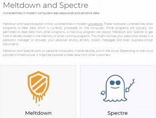 Meltdown and Spectre, Vulnerabilities in modern computers leak passwords and sensitive data.